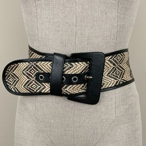 banana republic paper wood woven belt